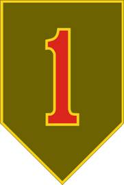 1st Infantry Division Combat Service ID Badges